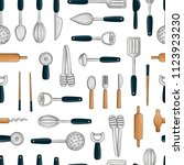 vector seamless pattern of... | Shutterstock .eps vector #1123923230