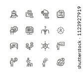 businessman icons. set of  line ... | Shutterstock .eps vector #1123927919