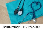 medical concept. top view of... | Shutterstock . vector #1123935680