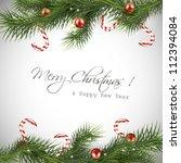 christmas background | Shutterstock .eps vector #112394084