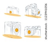 old photographic machines....   Shutterstock .eps vector #1123941056