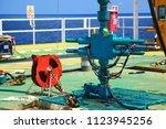 well head maintenance team and... | Shutterstock . vector #1123945256