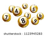 lottery number balls isolated... | Shutterstock .eps vector #1123945283