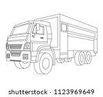 truck vector illustration and... | Shutterstock .eps vector #1123969649