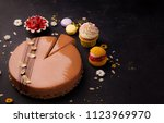 desserts  panacotta and cake | Shutterstock . vector #1123969970