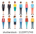 office woman character flat... | Shutterstock .eps vector #1123971743