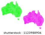 sketch australia letter text...   Shutterstock .eps vector #1123988906