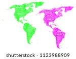 sketch america letter text...   Shutterstock .eps vector #1123988909