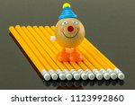 Yellow Pencils Arranged At A...