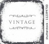 vintage grunge frame background.... | Shutterstock . vector #112399700