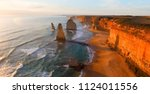 magnificence of twelve apostles ... | Shutterstock . vector #1124011556