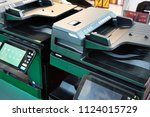 office equipment printers and... | Shutterstock . vector #1124015729