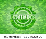 bachelor green mosaic emblem   Shutterstock .eps vector #1124023520