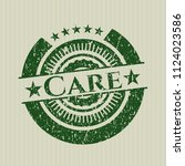 green care distressed rubber... | Shutterstock .eps vector #1124023586