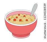 cartoon outlined illustration.... | Shutterstock .eps vector #1124028539