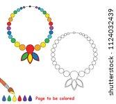 rainbow necklace. educational... | Shutterstock .eps vector #1124032439