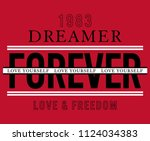 typography slogan for fashion t ... | Shutterstock .eps vector #1124034383