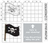 jolly rodger flag  the...   Shutterstock .eps vector #1124034500