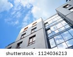 modern apartment buildings on a ... | Shutterstock . vector #1124036213