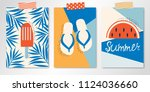 set of three taping vector...   Shutterstock .eps vector #1124036660