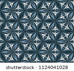 geometric flower seamless... | Shutterstock .eps vector #1124041028