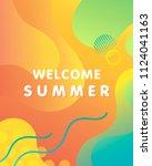 unique artistic design card  ... | Shutterstock .eps vector #1124041163