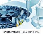 closeup of a modern robotic... | Shutterstock . vector #1124046443