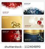 set of cards with christmas... | Shutterstock .eps vector #112404890