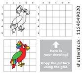 rainbow parrot  the educational ... | Shutterstock .eps vector #1124049020