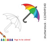 rainbow umbrella. educational... | Shutterstock .eps vector #1124049140