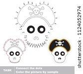 jolly rodger. dot to dot...   Shutterstock .eps vector #1124052974