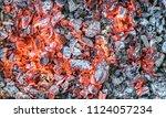 embers  glowing coals   Shutterstock . vector #1124057234