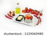 italian food vegetable hot... | Shutterstock . vector #1124060480