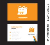 japanese cat head business card ... | Shutterstock .eps vector #1124065178