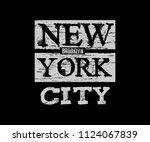 new york city brooklyn... | Shutterstock .eps vector #1124067839