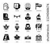 set of 16 icons such as... | Shutterstock .eps vector #1124068676