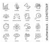set of 16 icons such as job... | Shutterstock .eps vector #1124070269