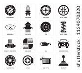 set of 16 icons such as... | Shutterstock .eps vector #1124070320