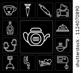 set of 13 simple editable icons ... | Shutterstock .eps vector #1124070890