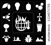 set of 13 simple editable icons ... | Shutterstock .eps vector #1124071733