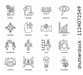 set of 16 icons such as... | Shutterstock .eps vector #1124072549