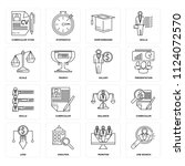 set of 16 icons such as job...