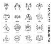 set of 16 icons such as... | Shutterstock .eps vector #1124072630