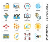 set of 16 icons such as node ... | Shutterstock .eps vector #1124073569
