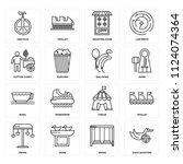 set of 16 icons such as duck...