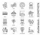 set of 16 icons such as bump...