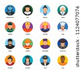 set of 16 icons such as man ...