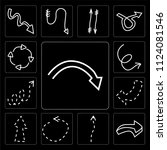 set of 13 simple editable icons ...   Shutterstock .eps vector #1124081546