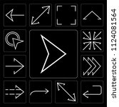 set of 13 simple editable icons ... | Shutterstock .eps vector #1124081564