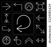 set of 13 simple editable icons ... | Shutterstock .eps vector #1124081624